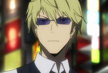 Шизуо Хейваджима l Shizuo Heiwajima / Сидзуо — человек в костюме бармена и солнечных очках, самый миролюбивый и тихий человек в мире. Пока его не разозлят, что происходит очень быстро и очень часто. Разъяренный Сидзу-тян высвобождает огромное количество адреналина и становится нечеловечески силен, благодаря чему известен как «сильнейший и опаснейший» житель Икэбукуро, несмотря на отсутствие специальной техники боя. Помимо невероятной мощи, он также прекрасно владеет паркуром, навыки которого отточились сами собой из-за лет