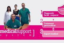 """Medical Support System / Marca """"Biothecare Estétika"""" a conceput un sistem unic, prin care centrele sale de franciză beneficiază de sprijinul unei echipe medicale care monitorizează, recomandă şi face o analiză completă a tratamentelor din centrele deținătoare de franciză. Este un suport medical propriu și exclusiv."""