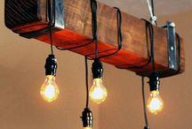 Dřevo+osvětlení