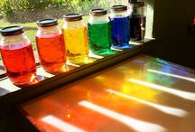 Rainbow jars colour