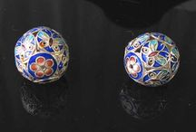 Metal Beads > Cloisonne Beads / Fine hand made cloisonne beads.