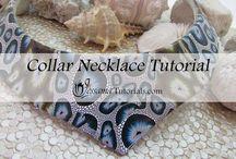 polymer clay collar