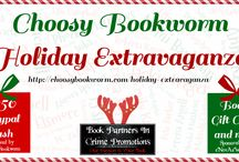 Choosy Bookworm Holiday Extravaganza / Choosy Bookworm Holiday Extravaganza Featuring eNovelAuthorsatWork and Book Partners In Crime Promotions www.choosybookworm.com/holidayextravaganza/  Lots of giveaways and prizes!
