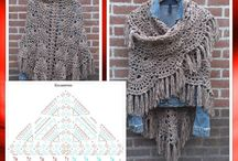 crochet chale echarpe