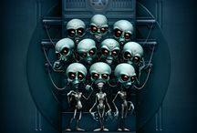 Paranormal Wallpapers / Des fonds d'écrans paranormaux ou en anglais des paranormal wallpapers sur le thème des OVNI, fantômes, extraterrestres, démons, etc...