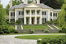 Style - Southern / Based on the gracious antebellum manors of the deep south, Plantation house plans reflect a combination of rural practicality and Neoclassical, Greek Revival, and Italianate styles, with which they share their graceful symmetry and proportions. Known for soaring columned porches and galleries that may extend across the front or wrap around all four sides of the home, tall French windows, and wooden shutters.