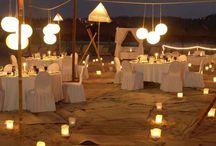 Decoración nocturna boda