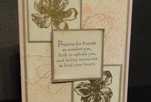 Sympathy Cards / sympathy specific cards (sentiment specific) hand made using Stampin' Up! products.  Can be used for different occasions by changing the sentiment used