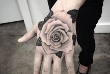 hand tattoos/symbols matching for couples