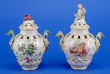 Мейсенские и севрские фарфоровые вазы 19 века. / Meissen and Sevres porcelain vases 19th century