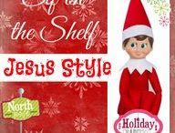 Elf on the Shelf-Jesus Style / Ideas for Elf on the Shelf / by Lisa Brooks