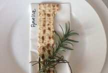 Passover table decoration