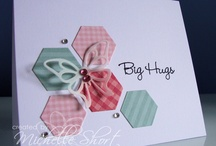 Six-Sided Sampler-Stampin Up / Cards featuring Six-Sided Sampler stamp set, Hexagon punch, and Honey Comb embossing folder / by Sue Richardson