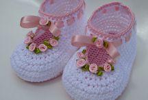 zapatillas para bb crochet