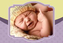Sweet Purple and Yellow Baby Photobook / Baby photobook desain yang didominasi oleh warna ungu dan kuning untuk kesan ceria dan manis, seperti buah hati Anda.