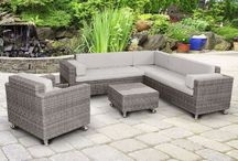 Furniture: Rattan Classic / Rattan Patio Furniture - Sun Loungers, Chairs, Sofas, Tables & Sets to create a traditional-looking patio or garden.