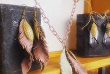 feathers / handmade necklace