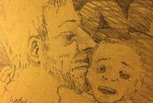 my work Watching Up #sketch #drawing #summer #sketchbook #pencil #loire #france