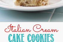 Italian cream cookie cakes
