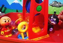 アンパンマンおもちゃ❤バイキンマンの水遊び!水車と水車 Anpanman toys
