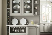 Kitchen China Cabinets & Hutches / A custom china cabinet or hutch can create exra storage and a beautiful way to show off your favorite dishes. #prescottkitchens www.PrescottKitchens.com