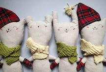 Handmade cuddlers from Italy for Christmas. / Handmade cuddlers from Italy made from linen, cotton and wool.