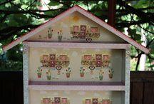 """Shelf """"House for dolls"""""""