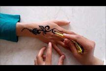 Hint kınası dövmeleri