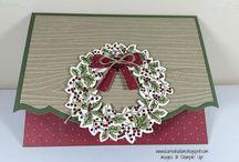 Peaceful wreath cards