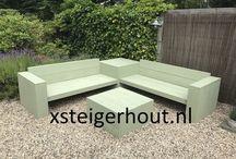 Hoekbank xl steigerhout bouwpakket xsteigerhout