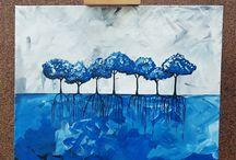 Mata Hari painting acryl
