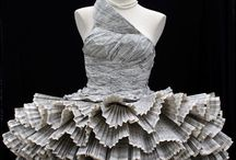 Fashion meets Paper / Wow! Paper fashion – beautiful dresses made out of old book pages, magazines or pure white paper. Amazing!