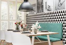 Dining room pastels I Τραπεζαρία σε παστέλ χρώματα