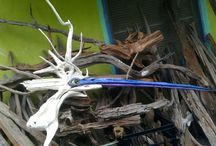Hatch Gallery / Little shop in Placida Florida.  Driftwood wood art, along with other family made art & collectibles