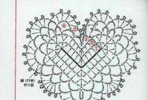 Háčkovaná srdce