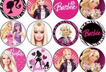 Barbie cup cake toppers