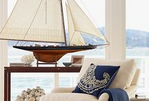 COLOUR INSPIRATION - Nautical / Nautical colour schemes throughout the home.