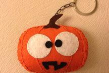 Keçe Cadılar Bayramı Anahtarlıkları (Felt Halloween Keychains)
