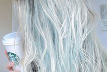 blonde blue hair