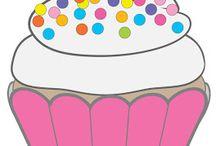 dibujos cupcakes