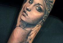 Native American Girl Tattoos