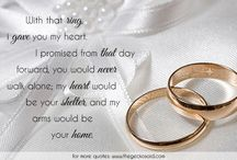 Marriage / Beautiful quotes about marriage.