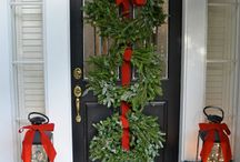 Ideas for Decorating your front door / Holidays are fun to decorate for!