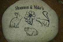 Customized Engraved Rocks / These are some of the customized engraved rocks we have done for past clients.