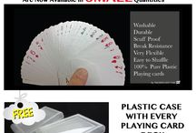 100% Pure custom plastic playing cards / Pure Plastic Playing cards or 100% pure plastic playing cards from TMCARDS DOT COM are made from A host of manmade plastic materials that range from PVC (Polyvinyl Chloride) ,BOPP, Cellulose Acetate etc. depending on the value add a customer might require along with the intrinsic and playing card properties that one might be looking for