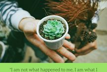 Inspiring Quotes / Things to tell yourself when you're feeling scared, overwhelmed, and uncertain.