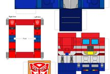 Transformers paper craft cube figures