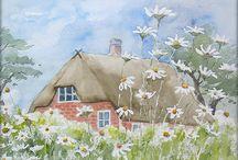 Häuser gemalt