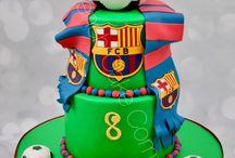 Gâteaux décorés Football - Football Cakes / FC Barcelona, Manchester, Chelsea, PSG, World cup, vive le Football!