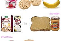 Workout foods (before/after) / by Amber Furst